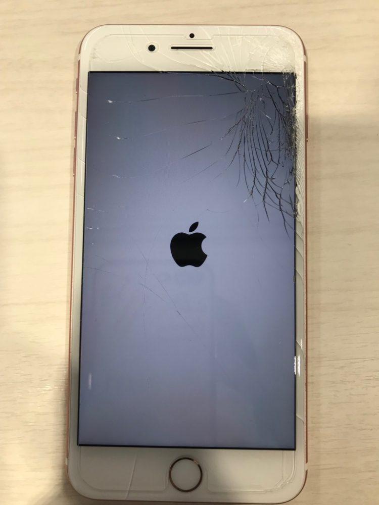 iPhone7Plus ひび割れ画像
