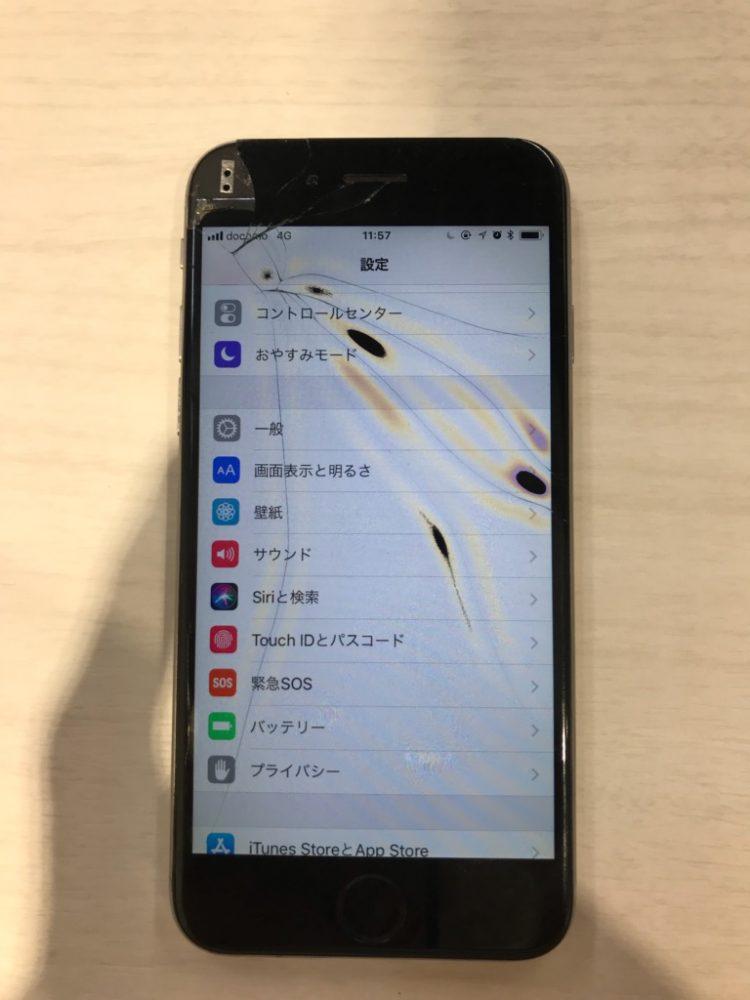 iPhone6 画面・液晶損傷画像