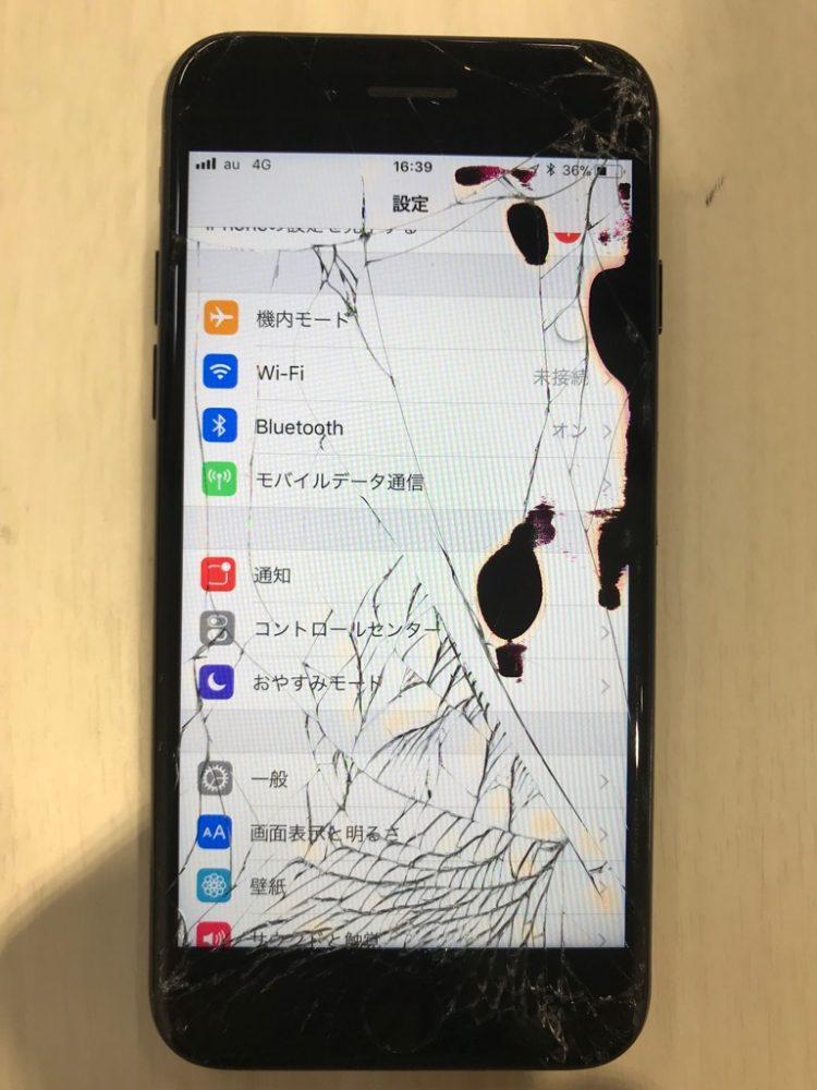 iPhone7 液晶損傷画像