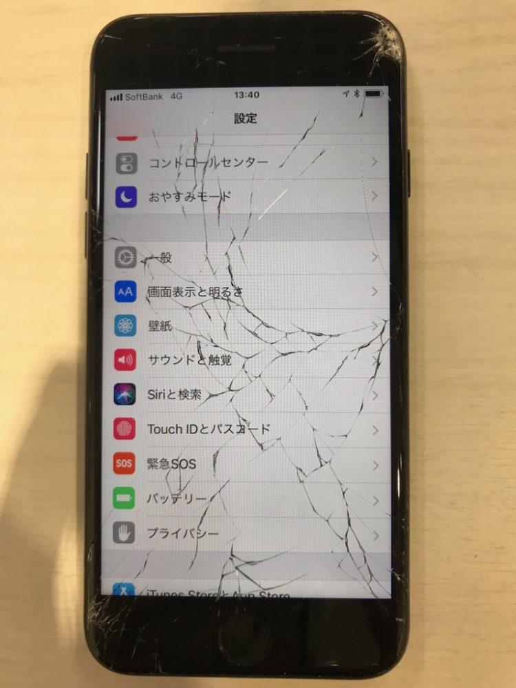 iPhone7 ひび割れ画像
