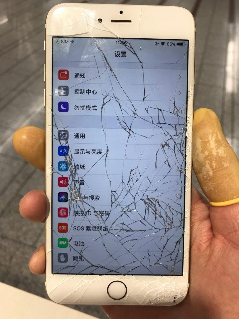 iPhone6plus 修理前画像