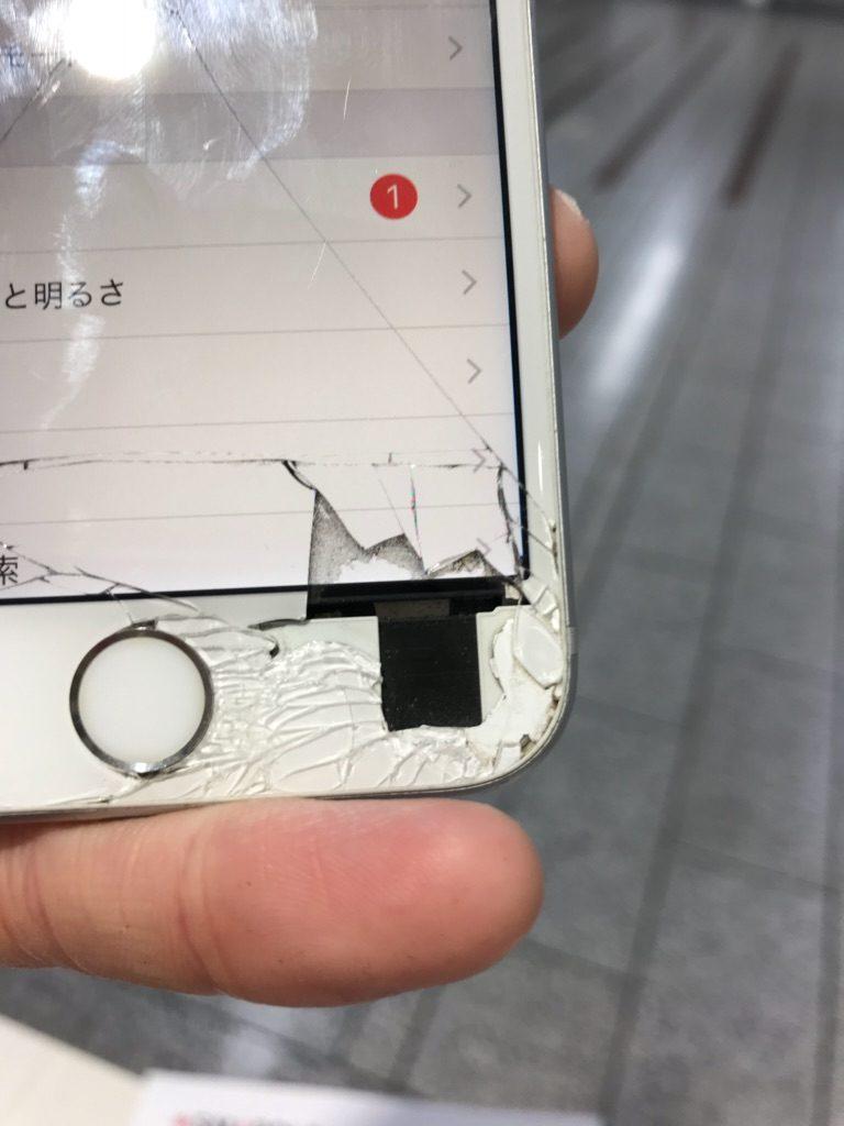 iPhone6s ひび割れ画像 ズーム