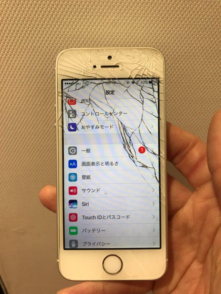 iPhoneSE ひび割れ画像