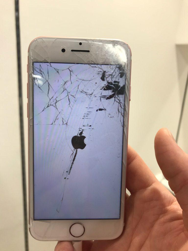 iPhone7 液晶もれ画像