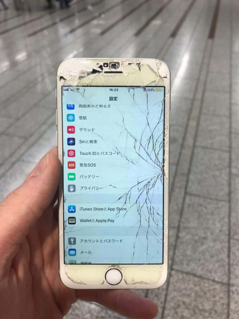 iPhone6 ひび割れ画像