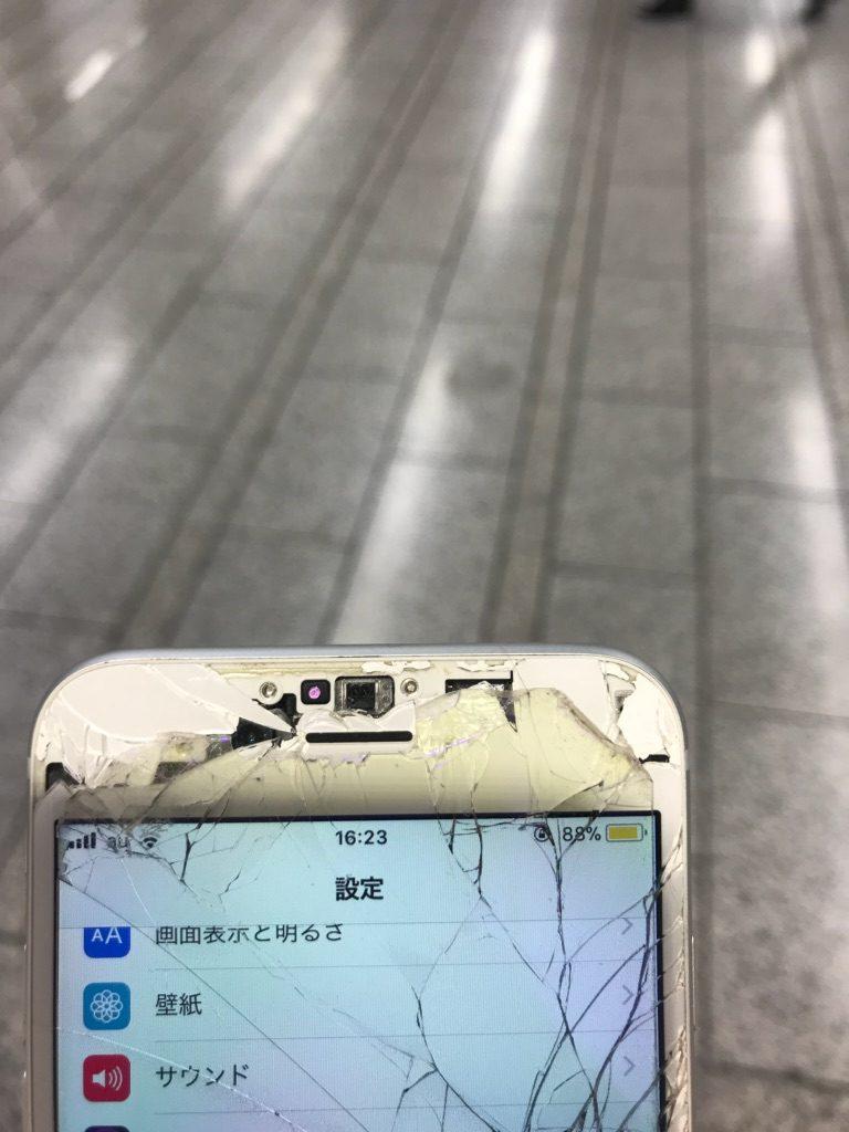 iPhone6 ひび割れ画像 ズーム