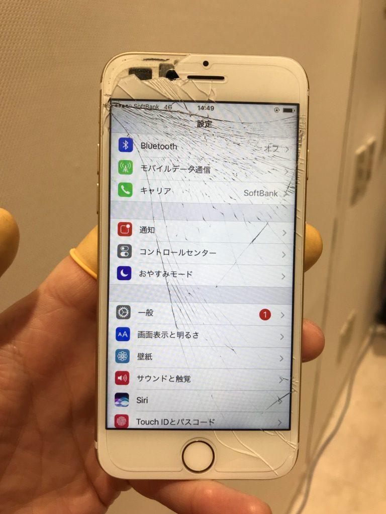 iPhone7 画面割れ画像