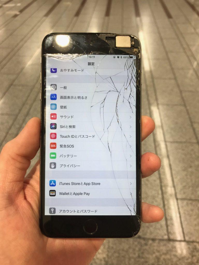 iPhone6plus ひび割れ画像
