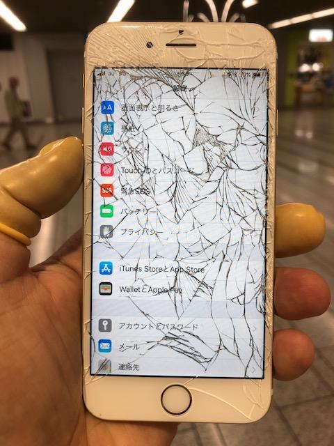 iPhone6s ひび割れ画像