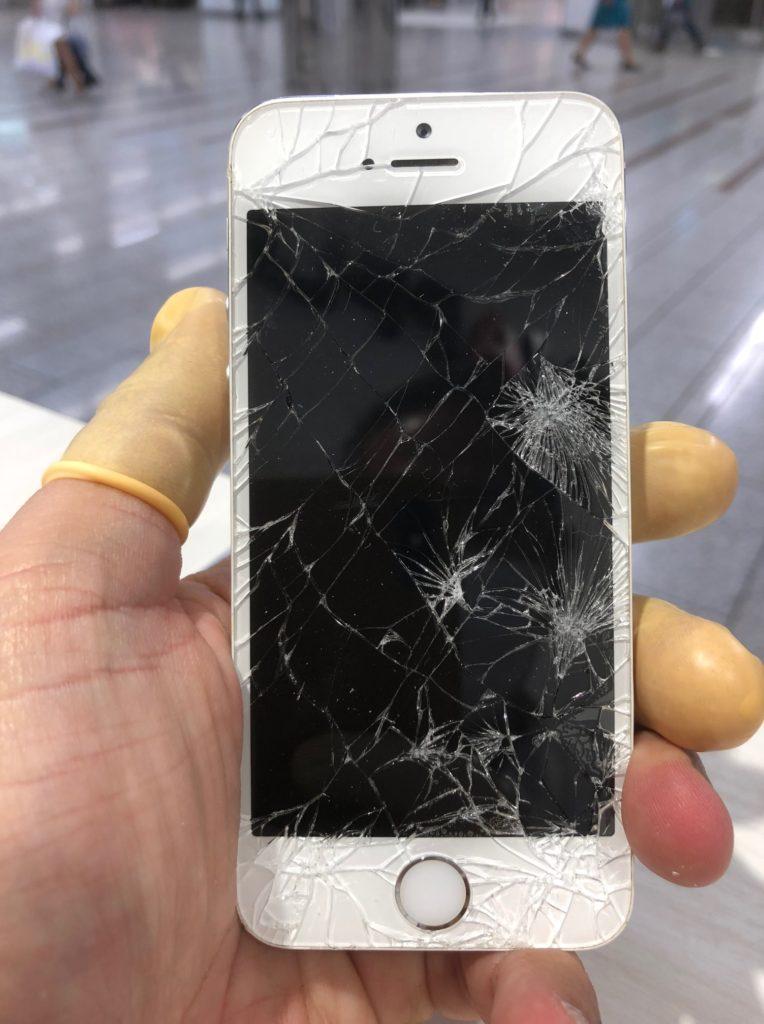 iPhone5s ひび割れ画像