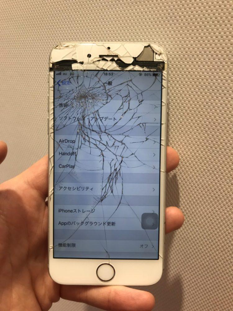 iPhone6splus ひび割れ画像