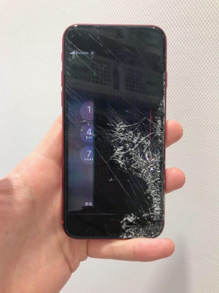 アイフォン8 液晶損傷