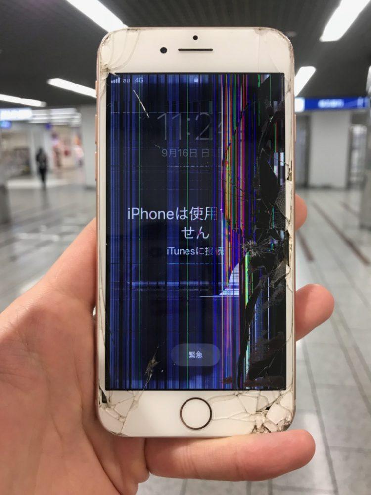 アイフォン6s 液晶損傷