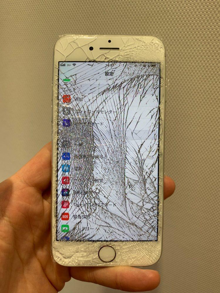 iPhone ひび割れ