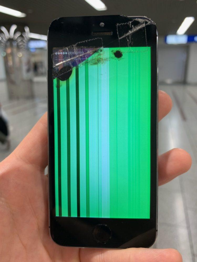 iPhone5s 液晶損傷