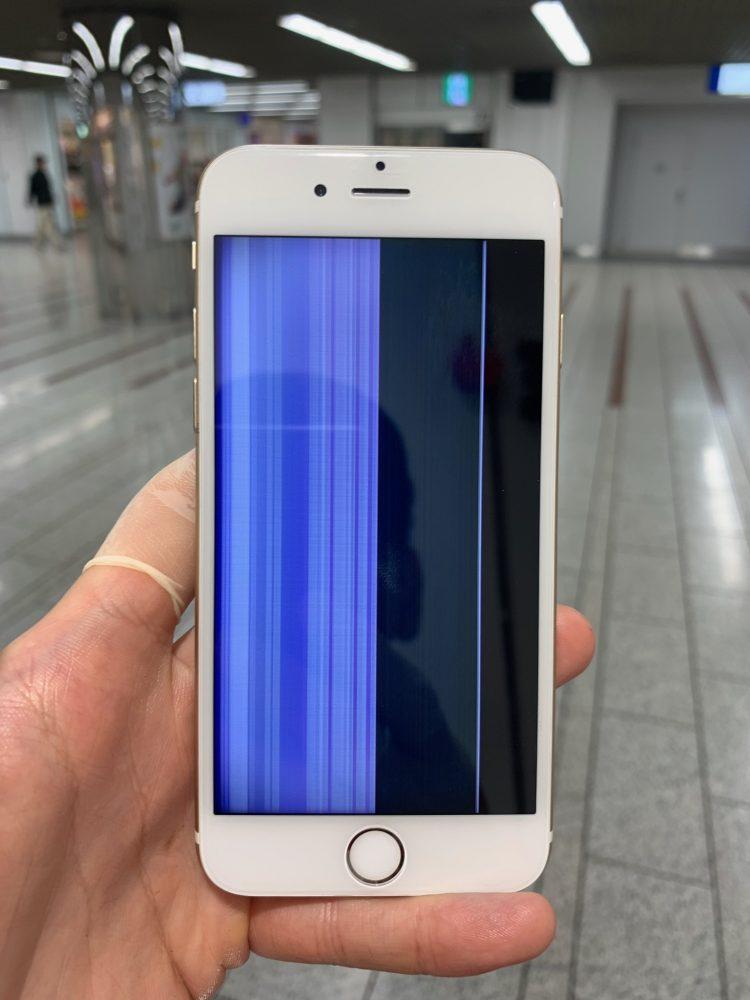 iPhone6液晶損傷