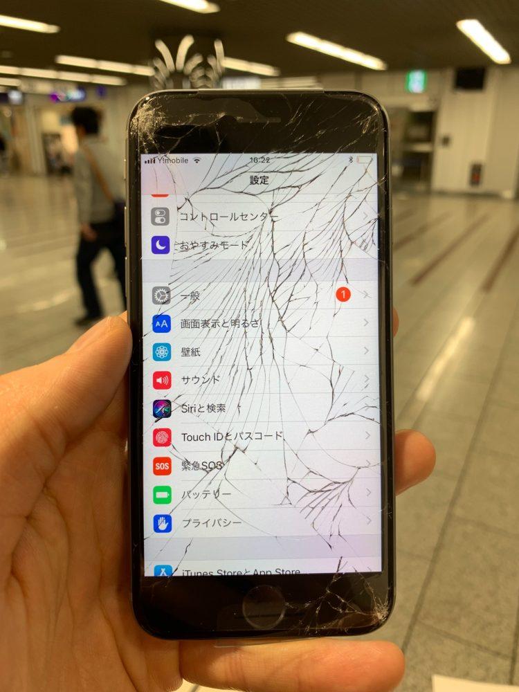 iPhone6 ひび割れ