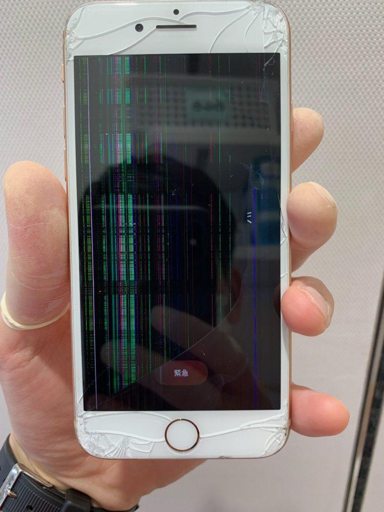 iPhone7 液晶崩壊