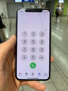 iPhoneXS ひび割れ画像