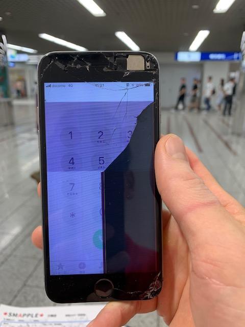 アイフォン6 画面滲み
