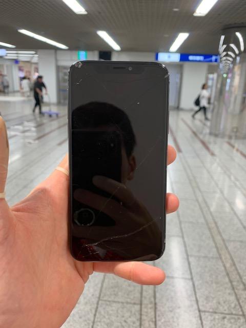 アイフォンX 表示不可