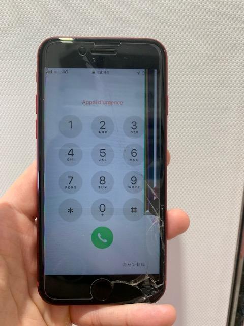 アイフォン8 液晶漏れ