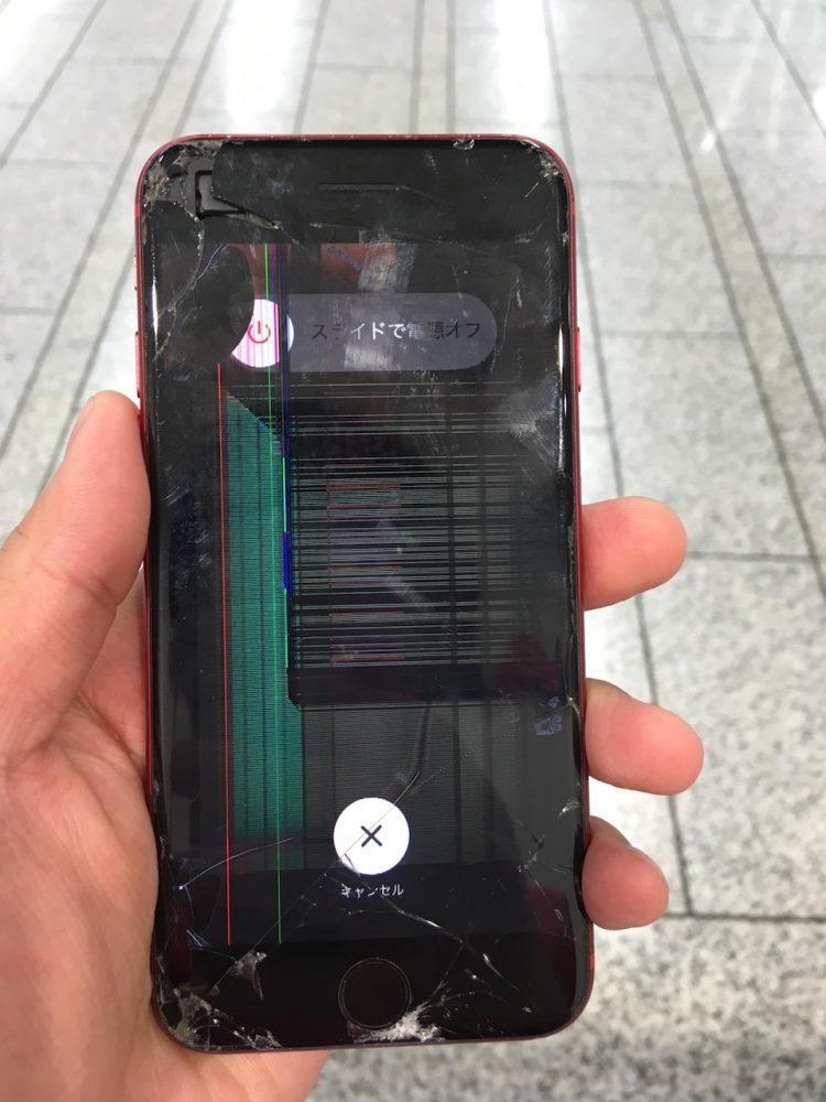 iPhone8 液晶割れ