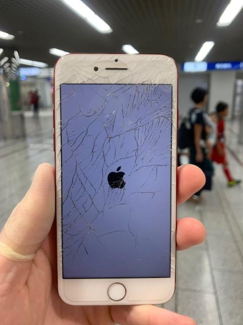 アイフォン7 画面ひび割れ