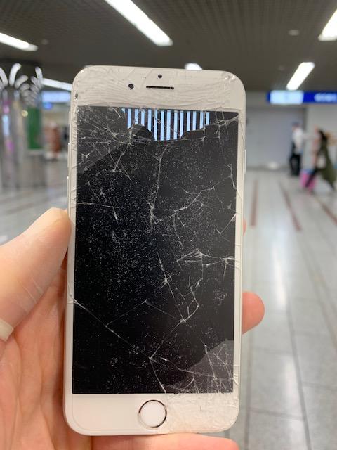 アイフォン6s 液晶崩壊