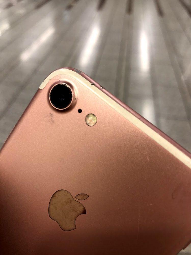 iPhone7 レンズ割れ
