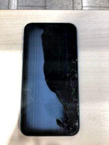 iPhoneXR 液晶崩壊