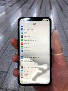iPhoneXR水没 シミ