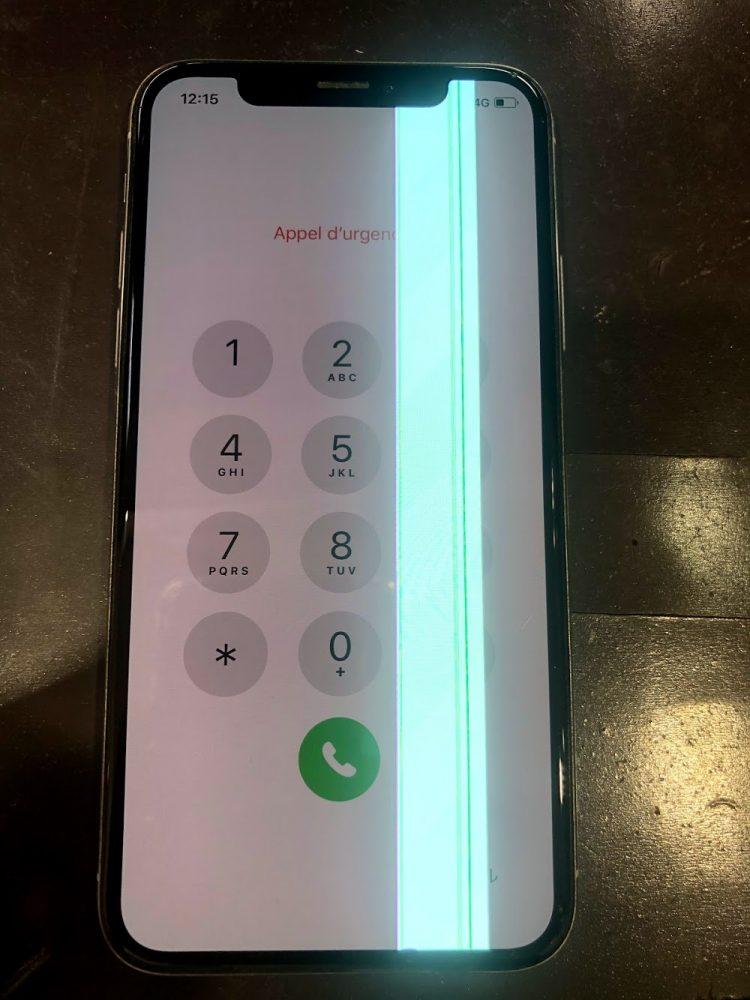 iPhoneX 緑線