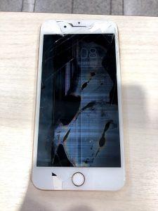 iPhone8p 液晶崩壊