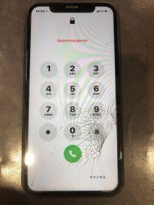 アイフォンXR 修理前画像