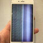 【iPhone6s】液晶が壊れてバーコード表示に!データは取り出し可能!?